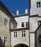 Zurück vom Jansky-Hügel-Schloss Lizenzfreie Stockbilder