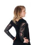 Zurück vom lustigen Punkmädchen im Bodysuit Stockfoto