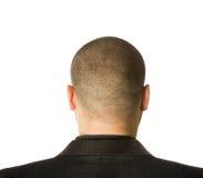 Zurück vom männlichen Kopf Stockbild