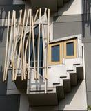 Zurück vom schottischen Parlaments-Gebäude Lizenzfreie Stockbilder