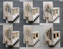 Zurück vom schottischen Parlaments-Gebäude lizenzfreies stockbild