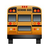 Zurück vom Schulbusmodell, realistische Art lizenzfreie abbildung