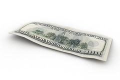 Zurück von 100 US-Dollars stock abbildung