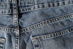 Zurück von der Blue Jeans-Beschaffenheit lizenzfreie stockbilder