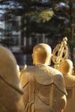 Zurück von der chinesischen Mönchstatue Lizenzfreie Stockfotos