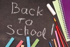 Zurück zu der Schule geschrieben stockfoto