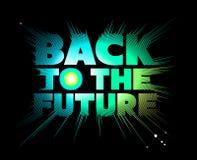 Zurück zu der Zukunft beschriftung Stockbild