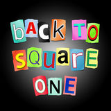 Zurück zu Quadrat eins. Lizenzfreie Stockfotos