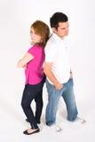 Zurück zu rückseitigen Paaren Lizenzfreies Stockbild