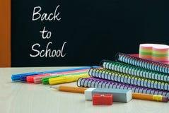 Zurück zu Schulbedarf Lizenzfreie Stockfotos