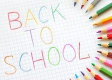 Zurück zu Schule Lizenzfreies Stockfoto