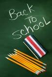 Zurück zu Schule acessories Stockbild