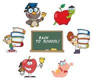 Zurück zu Schule-Ansammlung lizenzfreie abbildung