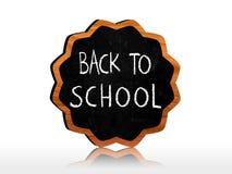 Zurück zu Schule auf star-like Tafel Lizenzfreies Stockfoto