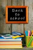 Zurück zu Schule Bücher und Schulwerkzeuge Lizenzfreie Stockfotografie