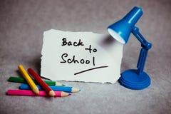Zurück zu Schule Bildungskonzept mit Text Stockbilder