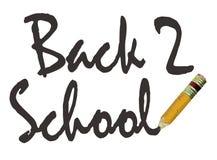 Zurück zu Schule-Bleistift Lizenzfreies Stockbild