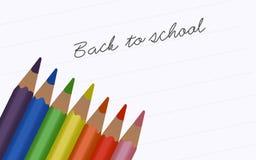 Zurück zu Schule - Bleistifte Lizenzfreies Stockbild