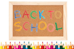 Zurück zu Schule - Farbenbleistifte Lizenzfreies Stockbild
