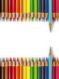 Zurück zu Schule farbiger Bleistift Lizenzfreies Stockfoto