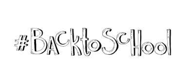 Zurück zu Schule Gezeichnete Beschriftung des Vektors Hand Stockfotos