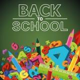 Zurück zu Schule-Hintergrund (EPS+JPG) Lizenzfreie Stockbilder