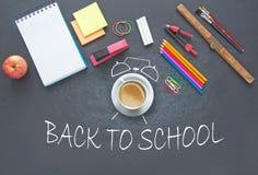 Zurück zu Schule-Hintergrund (EPS+JPG) Lizenzfreie Stockfotos