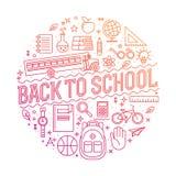 Zurück zu Schule-Hintergrund (EPS+JPG) Auch im corel abgehobenen Betrag Stockfoto