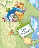 Zurück zu Schule-Karte Stockfotos