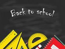 Zurück zu Schule-Konzept stock abbildung