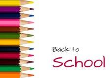 Zurück zu Schule mit Bleistiften Stockfotos