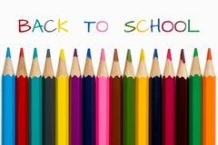 Zurück zu Schule mit Bleistiften Stockfoto