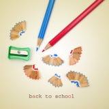 Zurück zu Schule mit einem Retro- Effekt Lizenzfreie Stockfotos