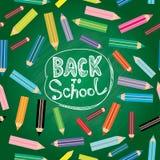 Zurück zu Schule Moderne Illustration des flachen Designs Stockbild