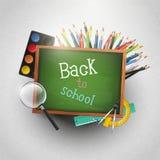 Zurück zu Schule - moderner Hintergrund lizenzfreie abbildung