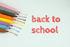 Zurück zu Schule - Okula-dönà ¼ ÅŸ Lizenzfreie Stockfotos