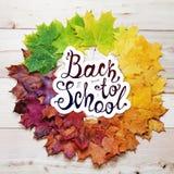 Zurück zu Schule Rundes Feld des Herbstes Stockbilder
