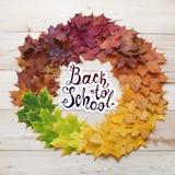 Zurück zu Schule Rundes Feld des Herbstes Lizenzfreies Stockfoto