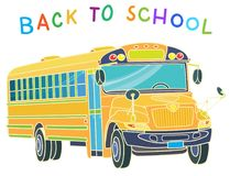 Zurück zu Schule Schulbus-Serie - 1 lizenzfreie stockfotos