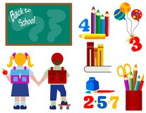 Zurück zu Schule - Serie Kinder stockbilder
