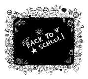 Zurück zu Schule Skizzefeld für Ihre Auslegung Lizenzfreie Stockfotografie