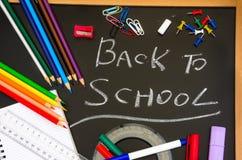 Zurück zu Schule-Tafel lizenzfreies stockfoto