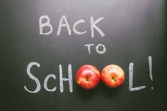 Zurück zu Schule Tafelhintergrund, Bildungskonzept Beschneidungspfad eingeschlossen Stockbild