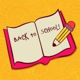 Zurück zu Schule und dem Schauen des Entwurfs Lizenzfreie Stockfotos