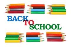 Zurück zu Schule-und Farben-Bleistiften Lizenzfreies Stockfoto