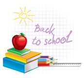 Zurück zu Schule (vektorabbildung) Lizenzfreies Stockfoto