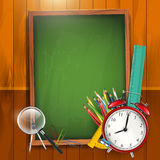 Zurück zu Schule - Vektorhintergrund stock abbildung