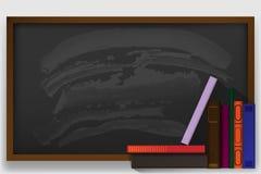 Zurück zu Schule Zwei Fahnen mit Schulbedarf Vektor stock abbildung