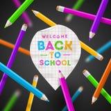 Zurück zu Schuleabbildung Lizenzfreie Stockfotos