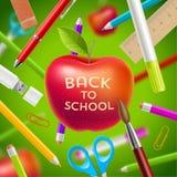 Zurück zu Schuleabbildung Stockfotos